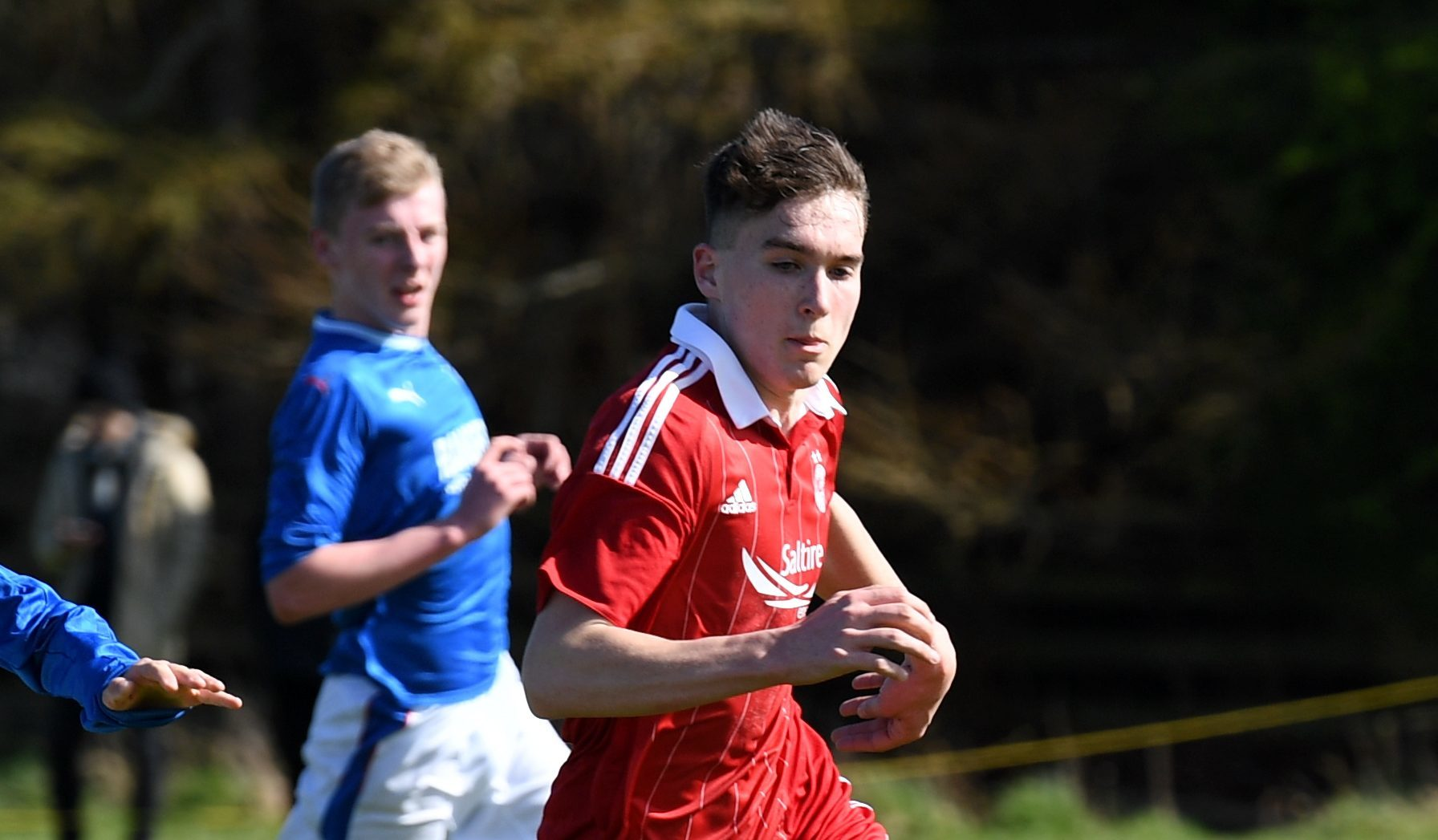 Aberdeen's Jevan Anderson in action during the 3-3 draw with Rangers in the Scottish Youth League clash at Balgownie. (Picture by Kath Flannery)