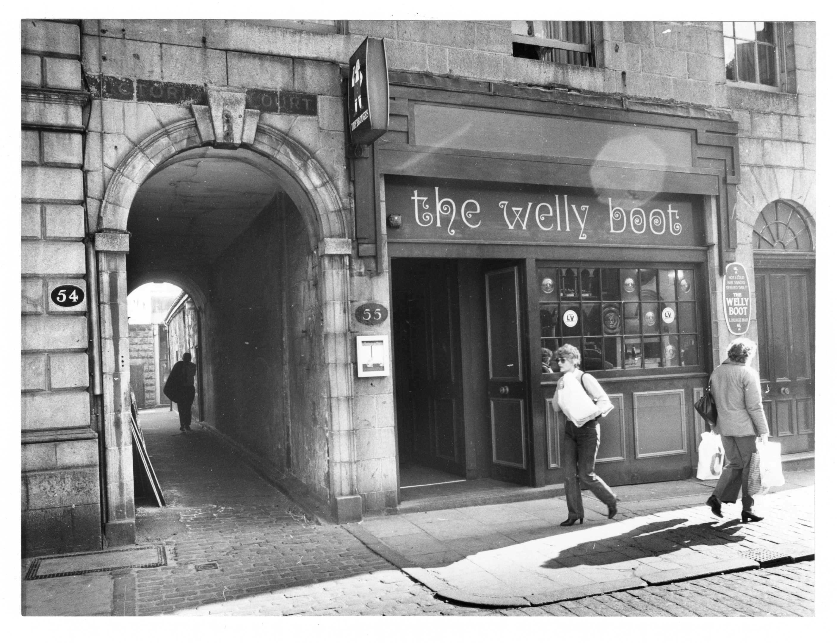 The Welly Boot, which has since become the Tilted Wig and then The Wig, is in a prime Castle Street spot.