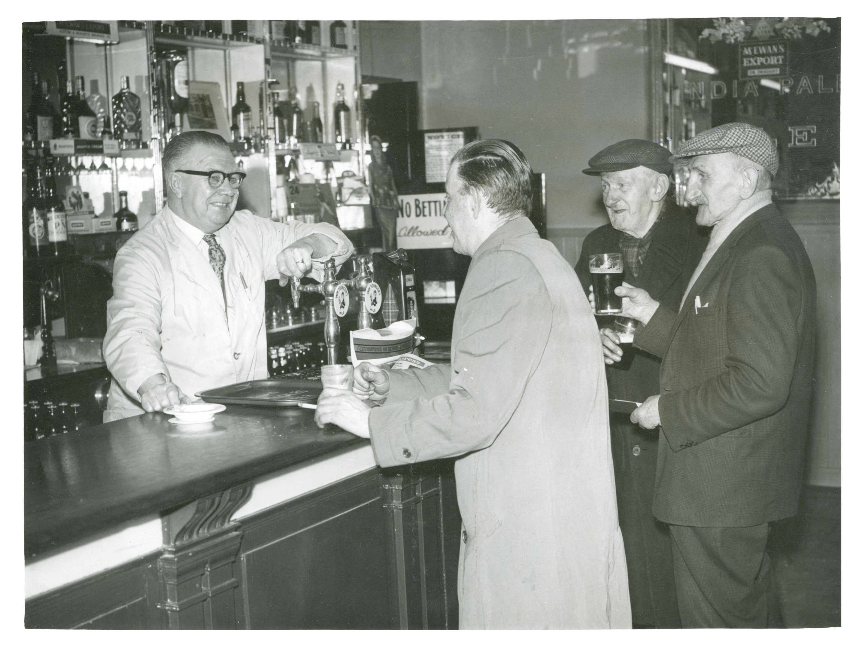 A working life behind the bar of one of Aberdeen's oldest pubs came to an end in 1965 for Tom Summers, who took over the Torry Bar in Old Torry in 1936. He is pictured here with customers after he announced his decision to retire.
