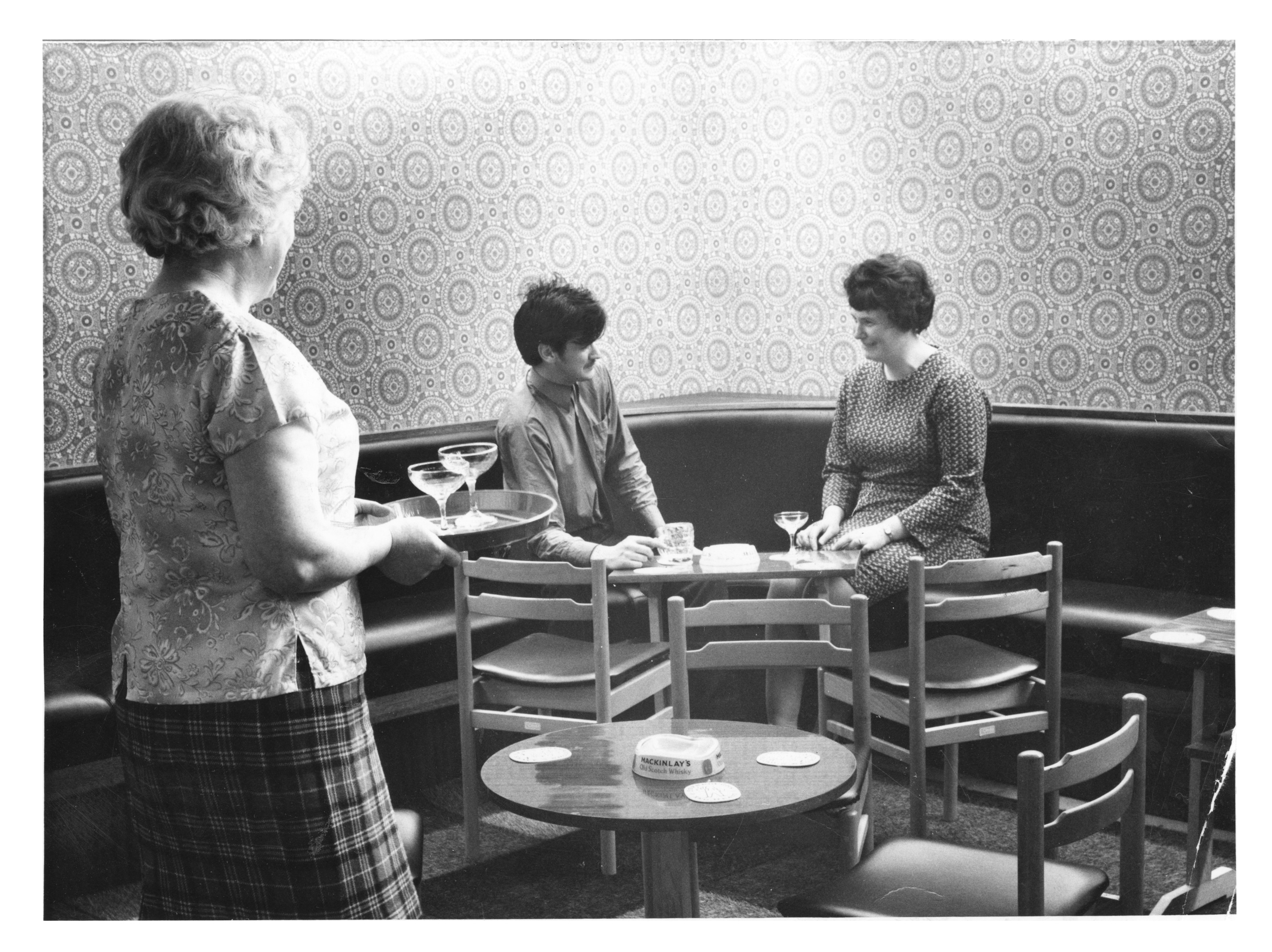 Customers enjoy a quiet drink in the corner of the new attractive lounge bar at The Charlotte.