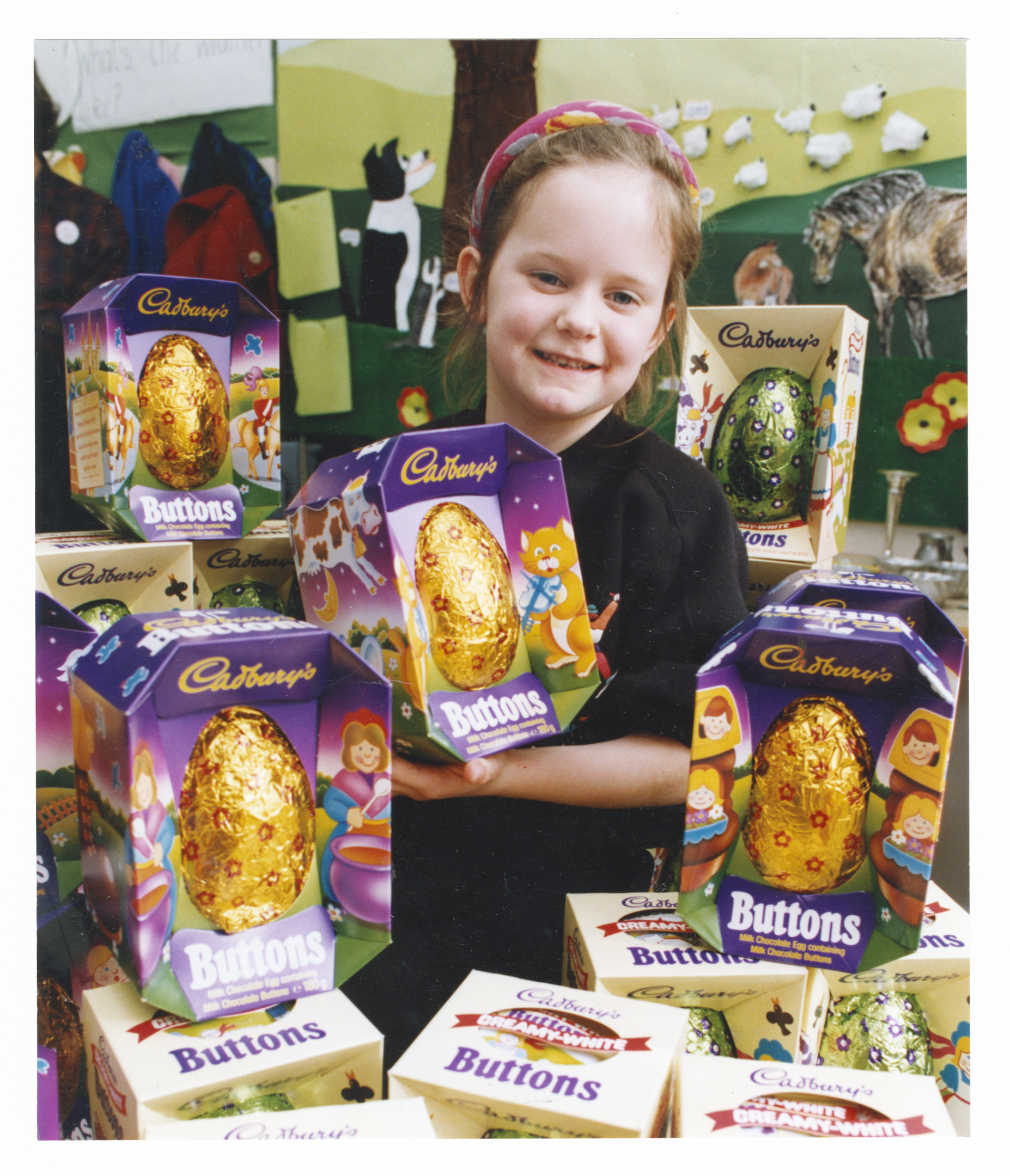 Chocolate: Lara Elson with eggs donated to Royal Aberdeen Children's Hospital.