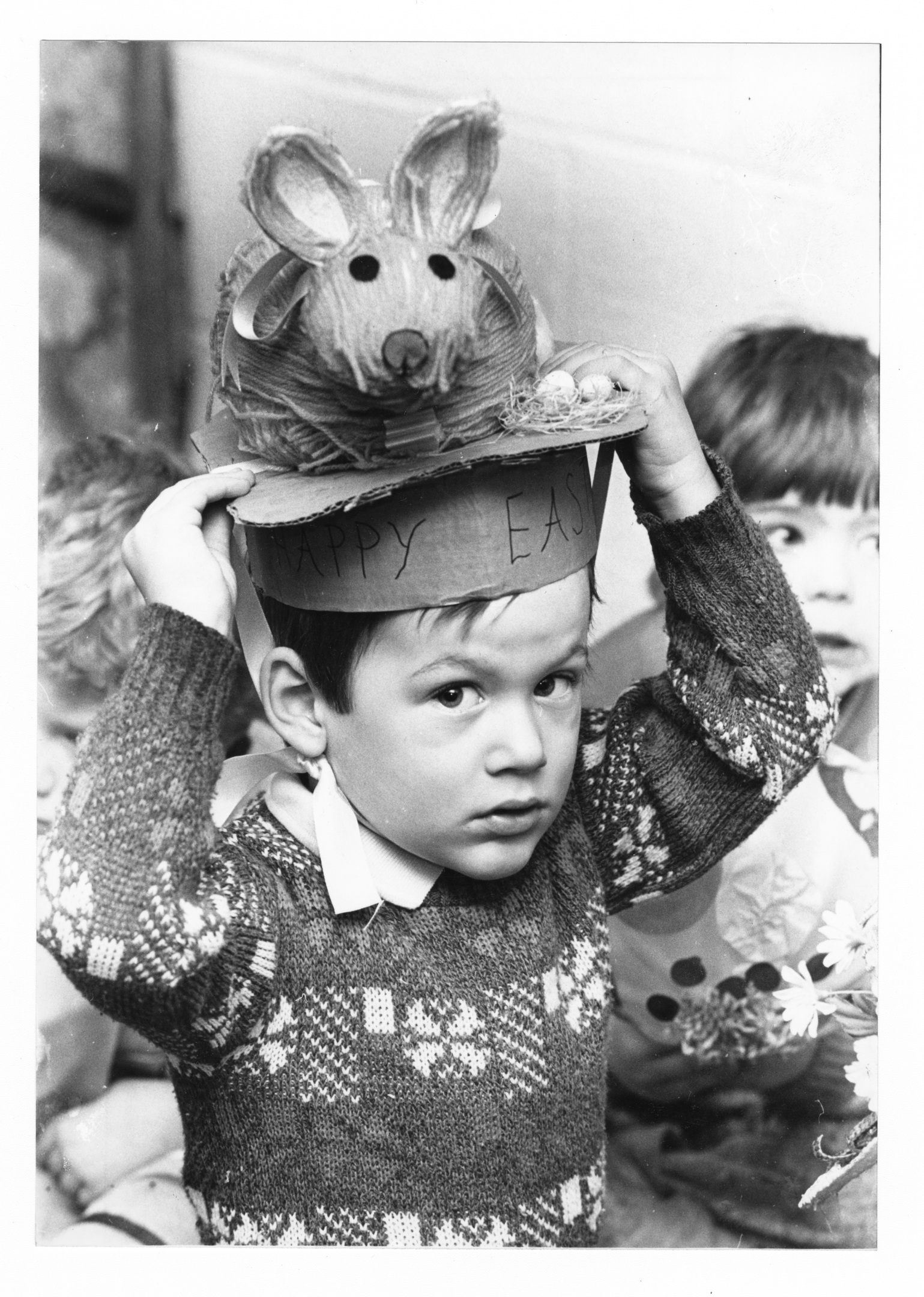 getting ahead: Neil Sinclair with his Easter bunny-theme bonnet.
