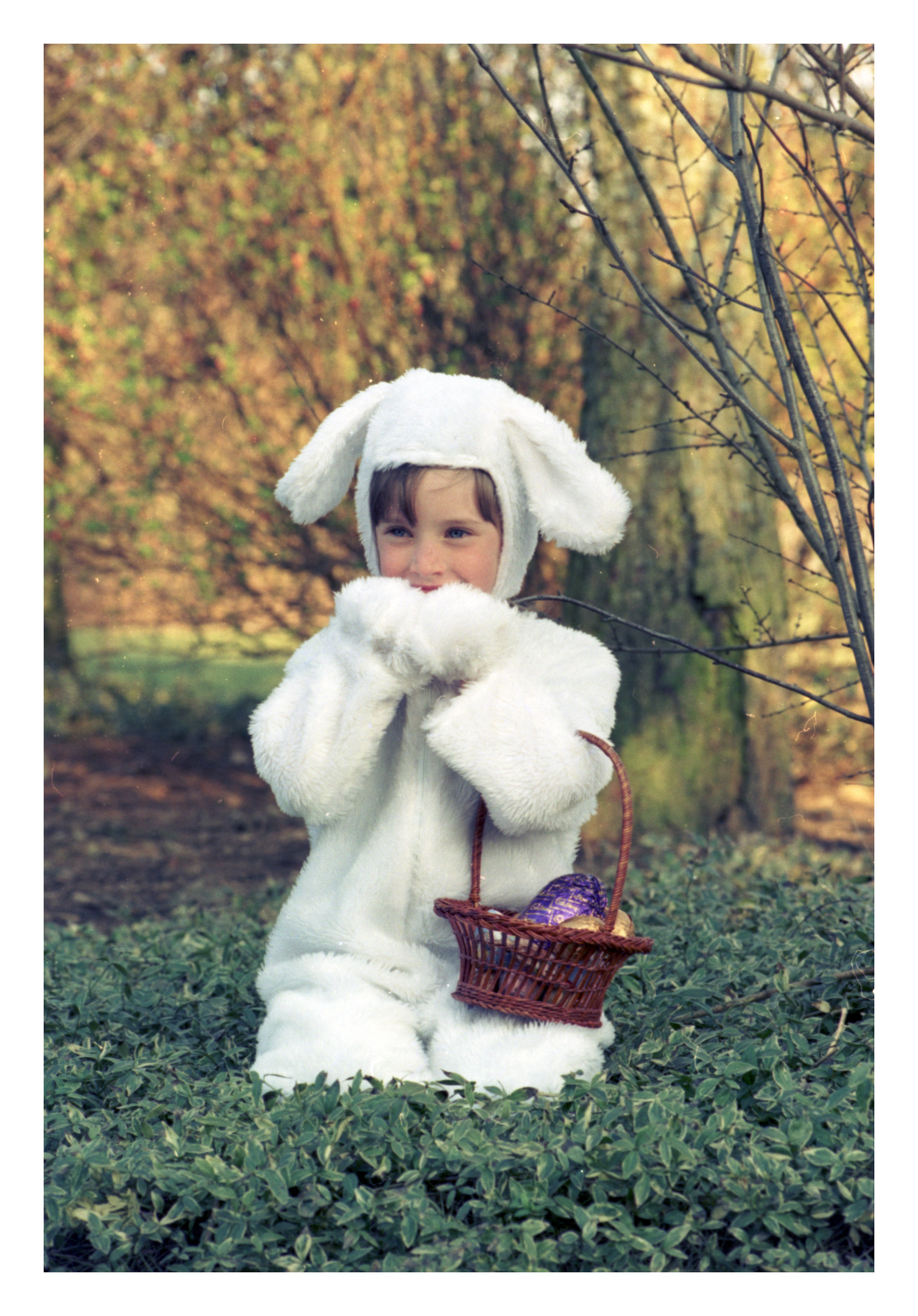 HOPPING ALONG: Jayne Irvine, of Westhill, was dressed up as a bunny in preparation for Easter.