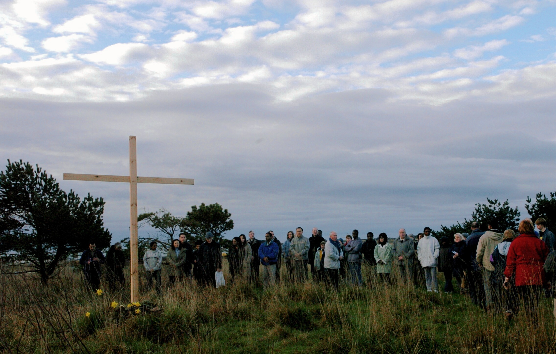 pilgrimage: The Easter Cross was carried from St Mary's Cathedral in the city to Kincorth led by Deacon Brian Kilkerr.