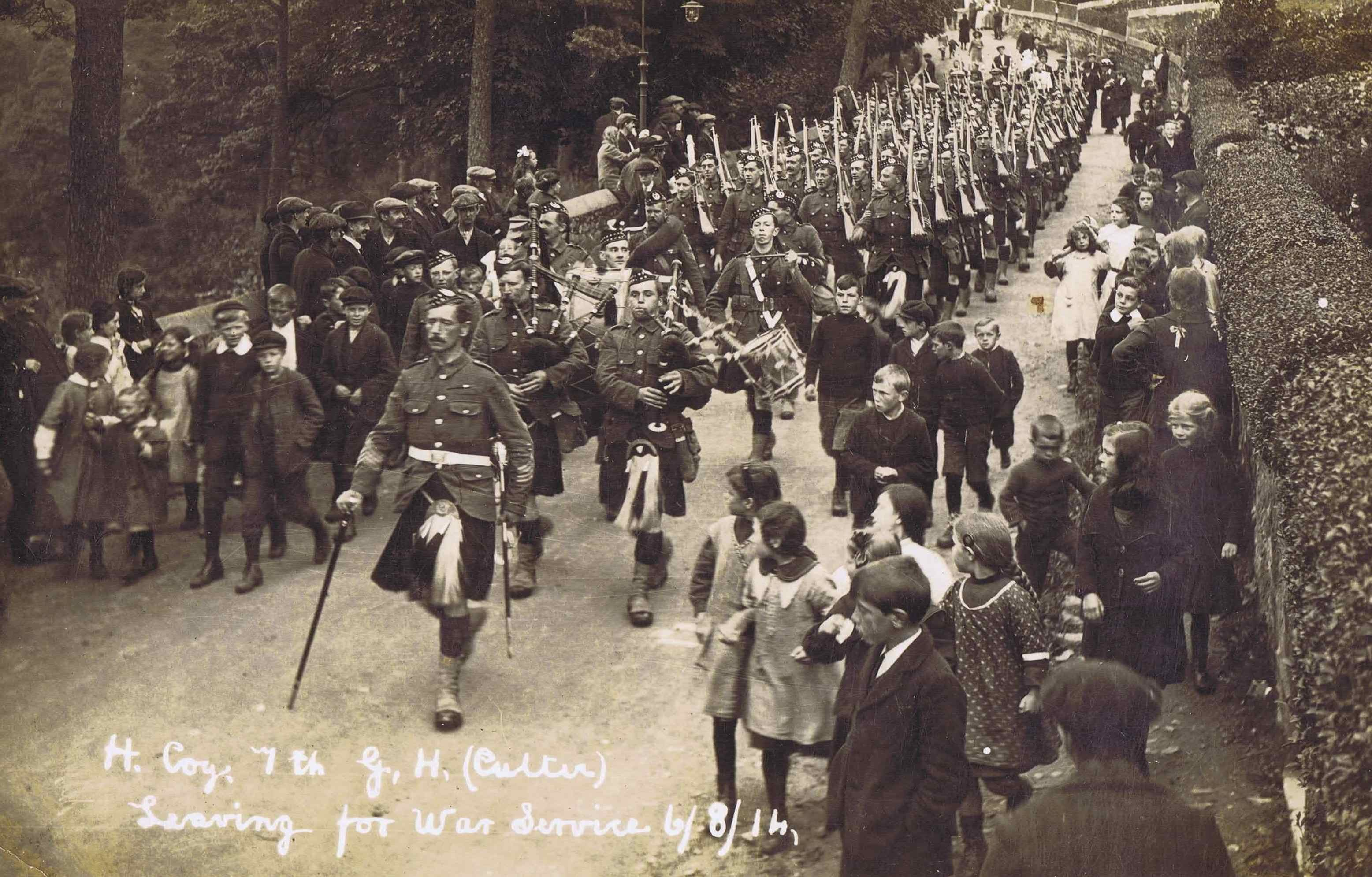 On parade:  The 7th (Deeside) Battalion of the Gordon Highlanders. pictures courtesy of the gordon highlanders museum