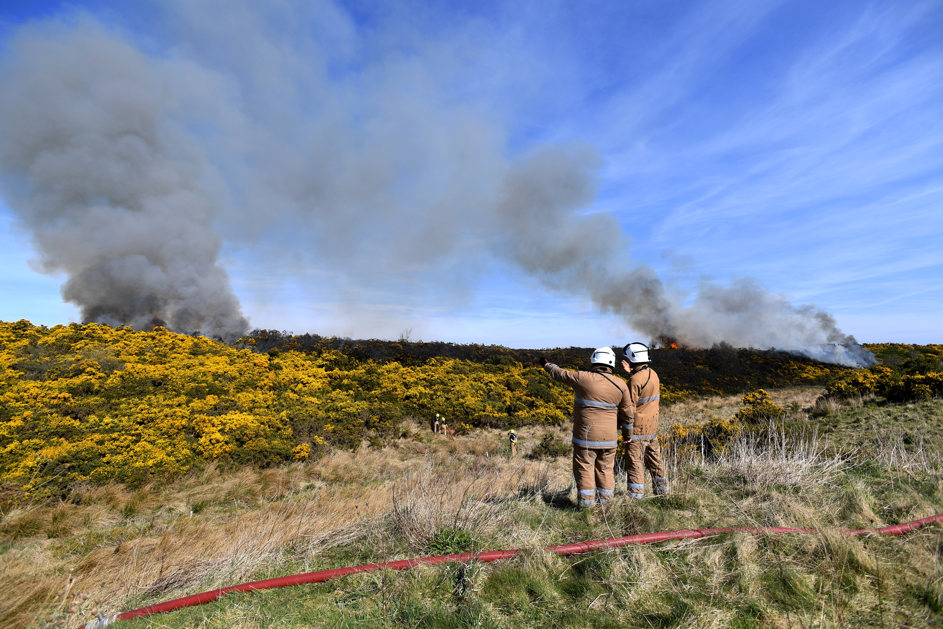 flames: Fire crews tackled the blaze for around eight hours on Saturday. Pictures by kath flannery