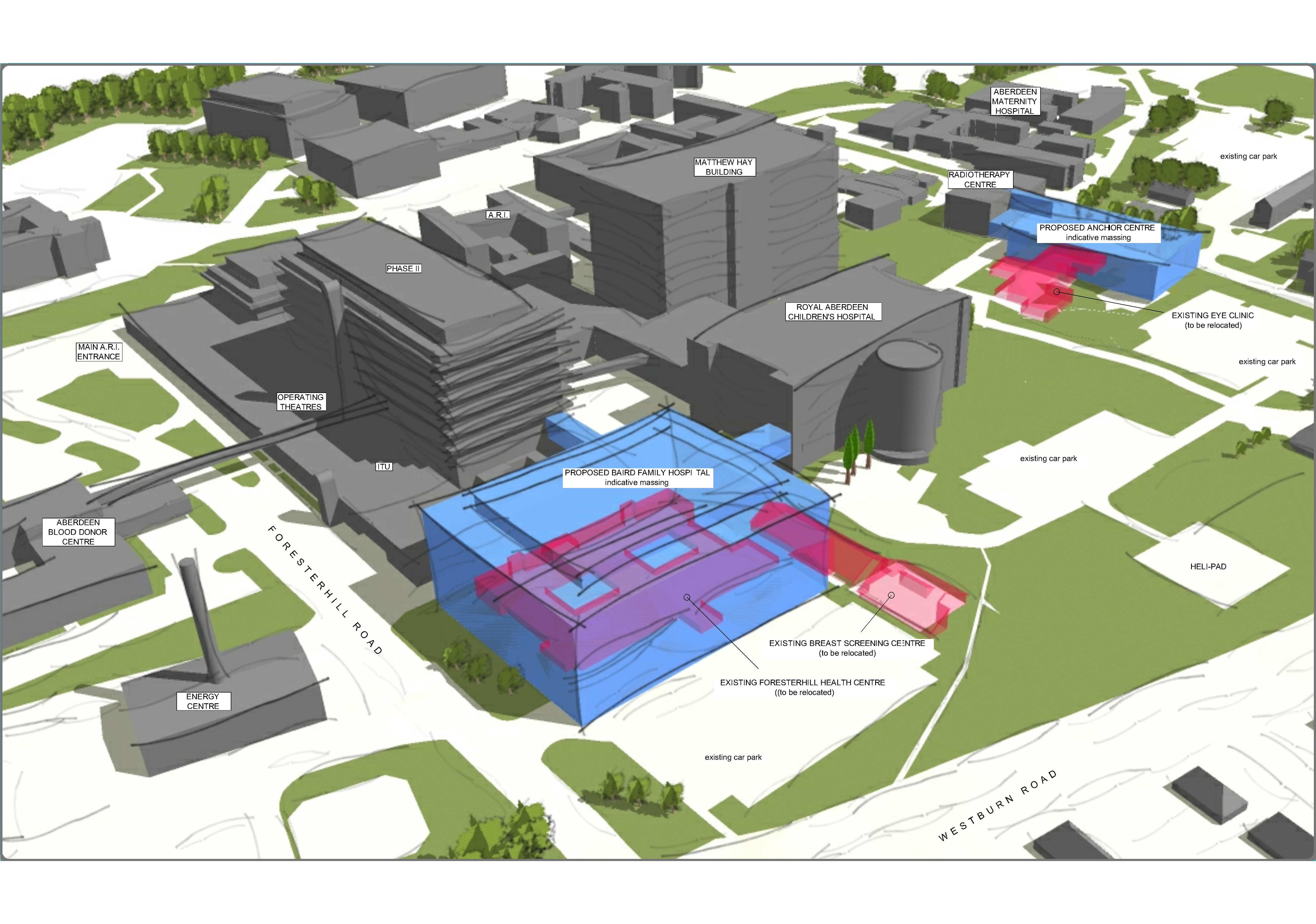 An artist's impression of how the completed complex could look.