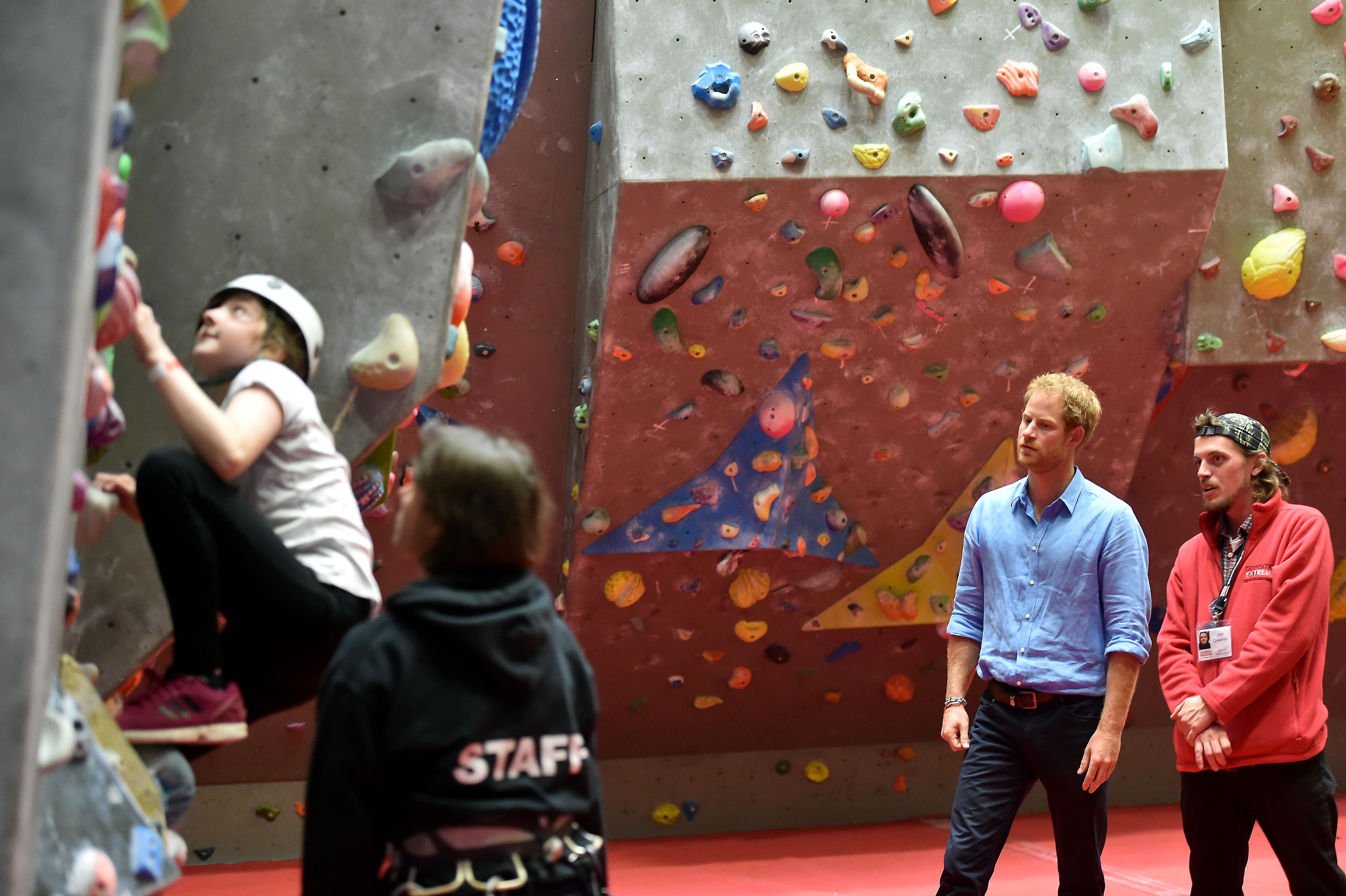 VIP: Below, Prince Harry with Joe Coleman. Above, Cllr Jill Wisely visits before the skatepark was finished.