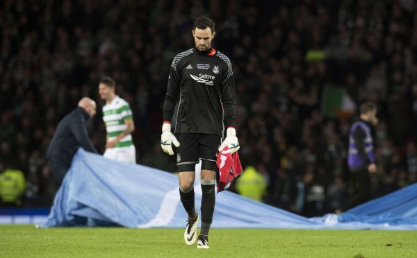 Joe Lewis after the 2016 Betfred Cup final loss to Celtic.
