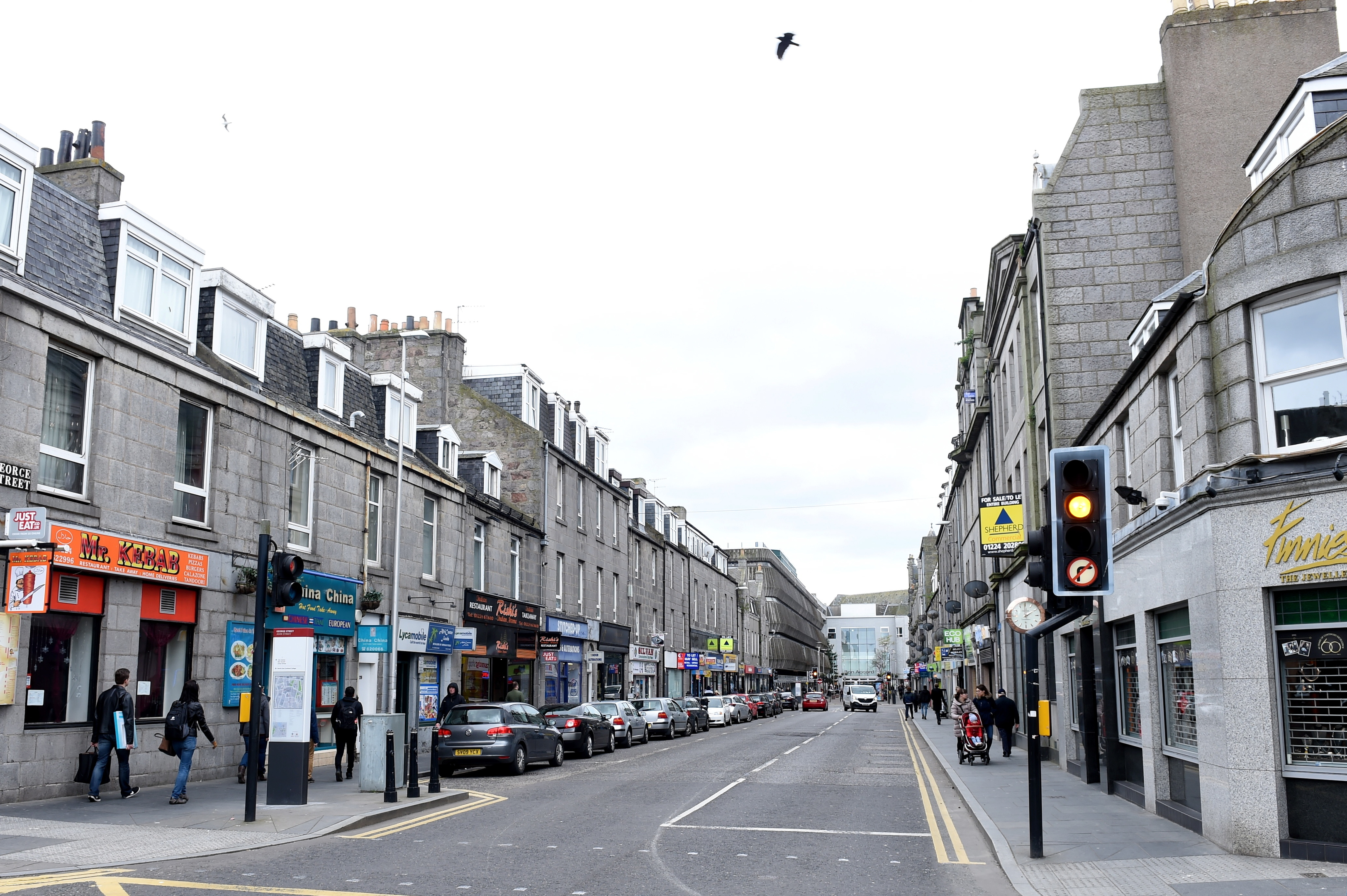 The section of George Street earmarked as part of the plans.