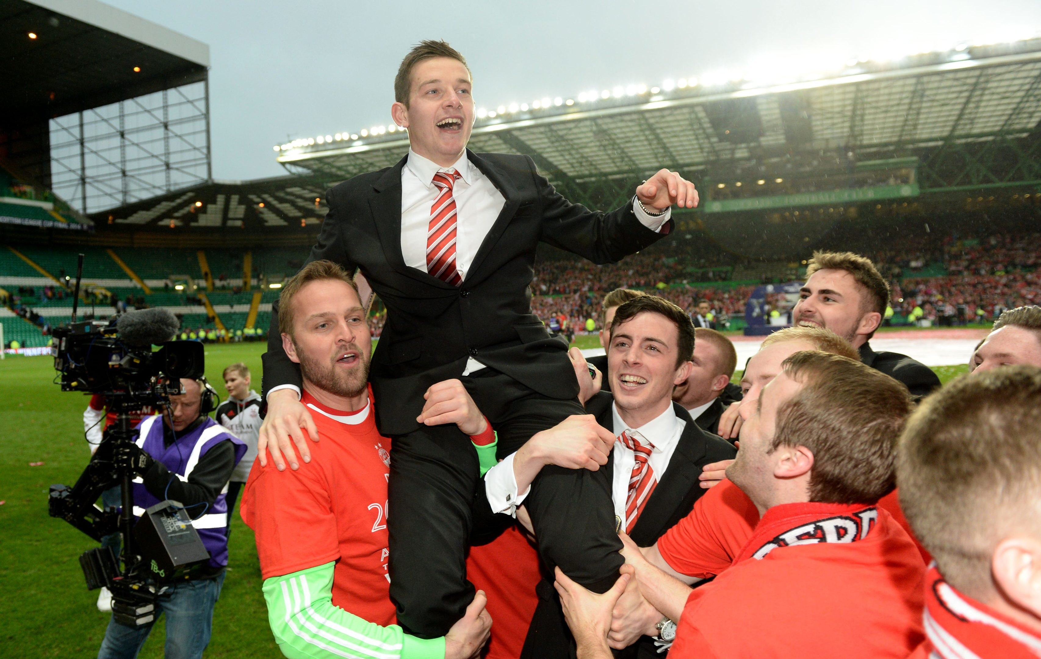Peter Pawlett at the League Cup final in 2014.