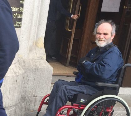 Duncan Guyan was told the fact he is in a wheelchair will not save him from being imprisoned.
