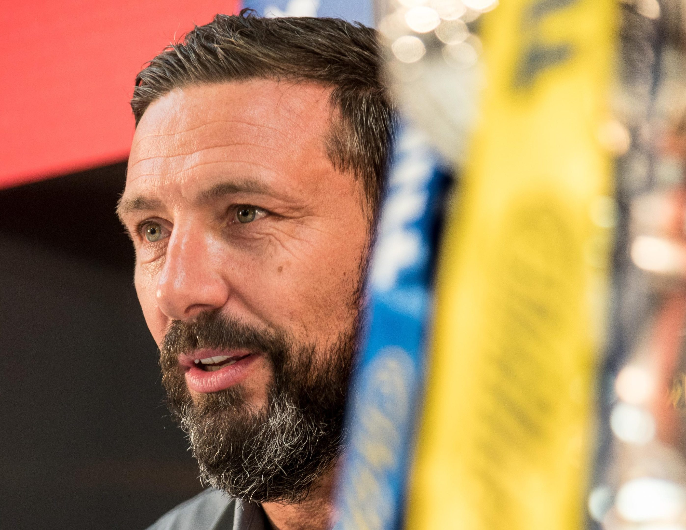 Aberdeen manager Derek McInnes is aiming for another cup final today.