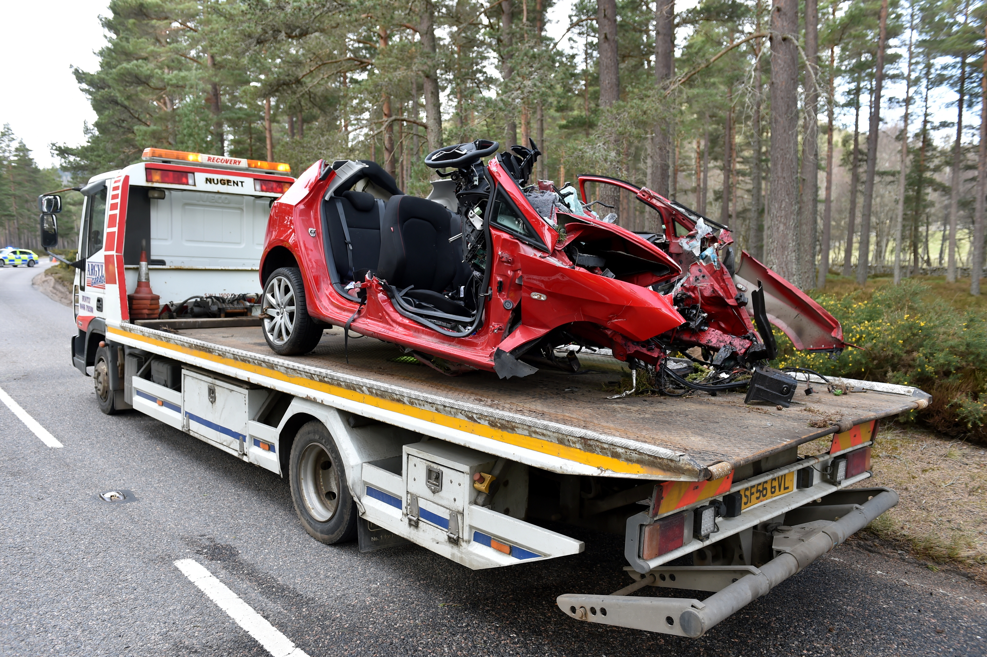 A 30-year-old man died after a red Seat Ibiza left the road on the A93.