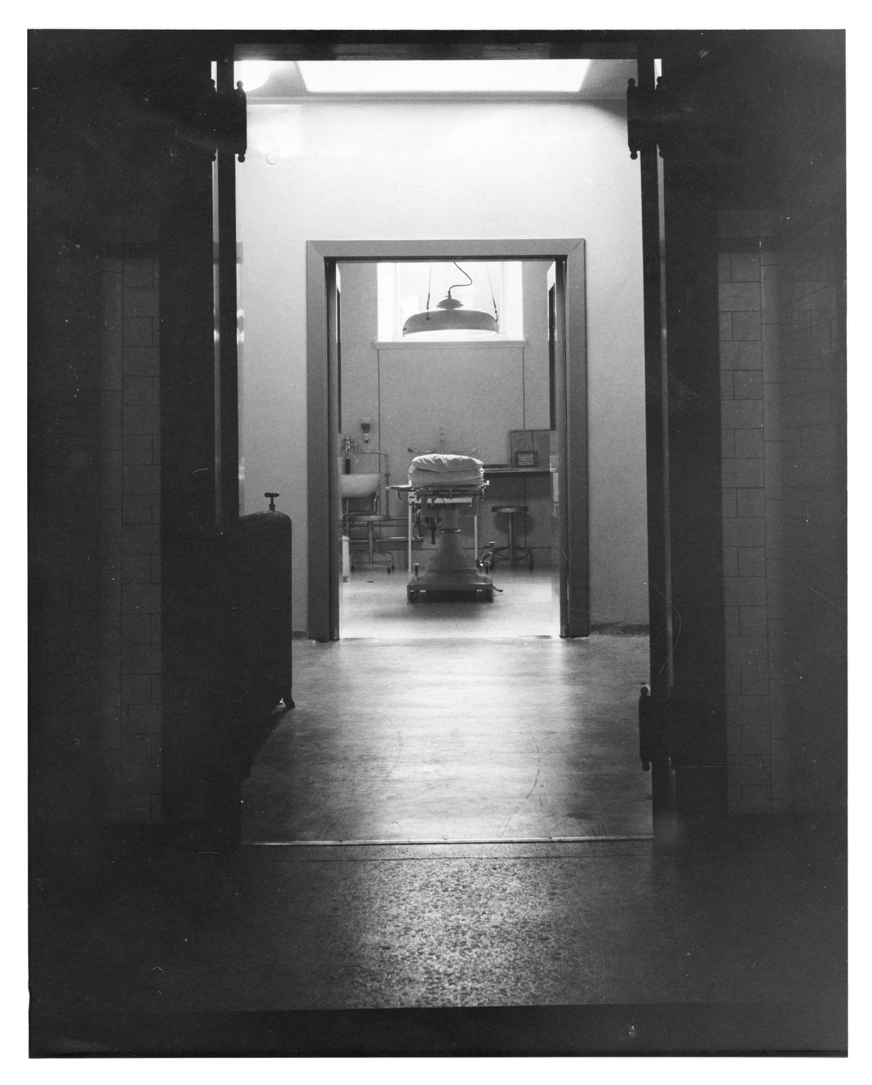 An operating theatre at Woolmanhill in the early 1960s.