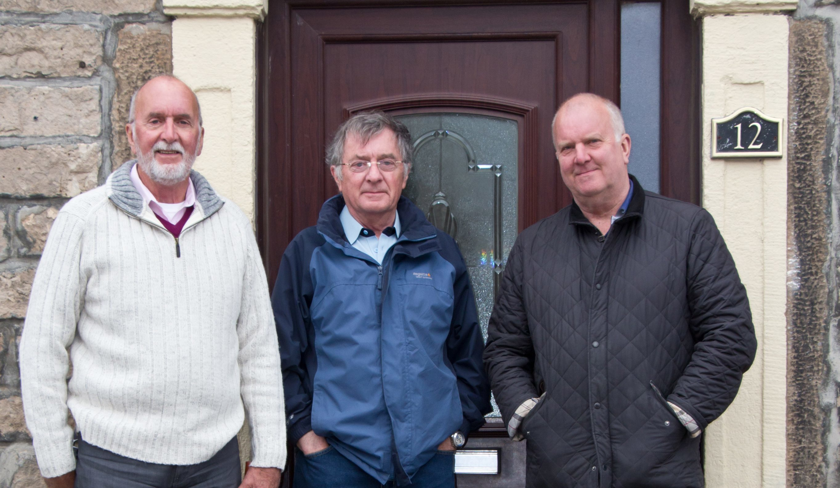 From left, brothers John Bowie, Colin Bowie and Richard Mace.
