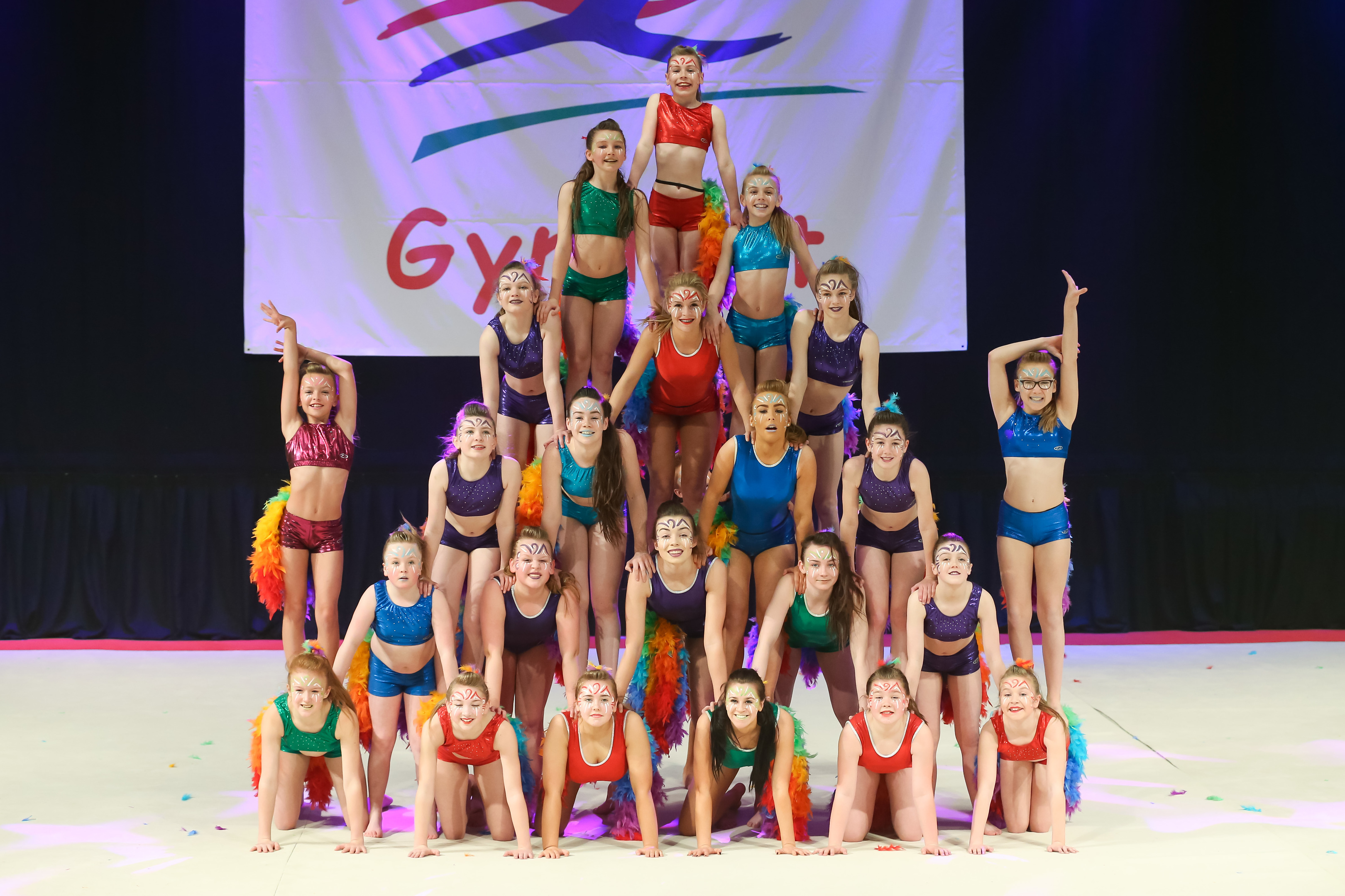 COLOURFUL:  The HPL group at Gymfest 2016.