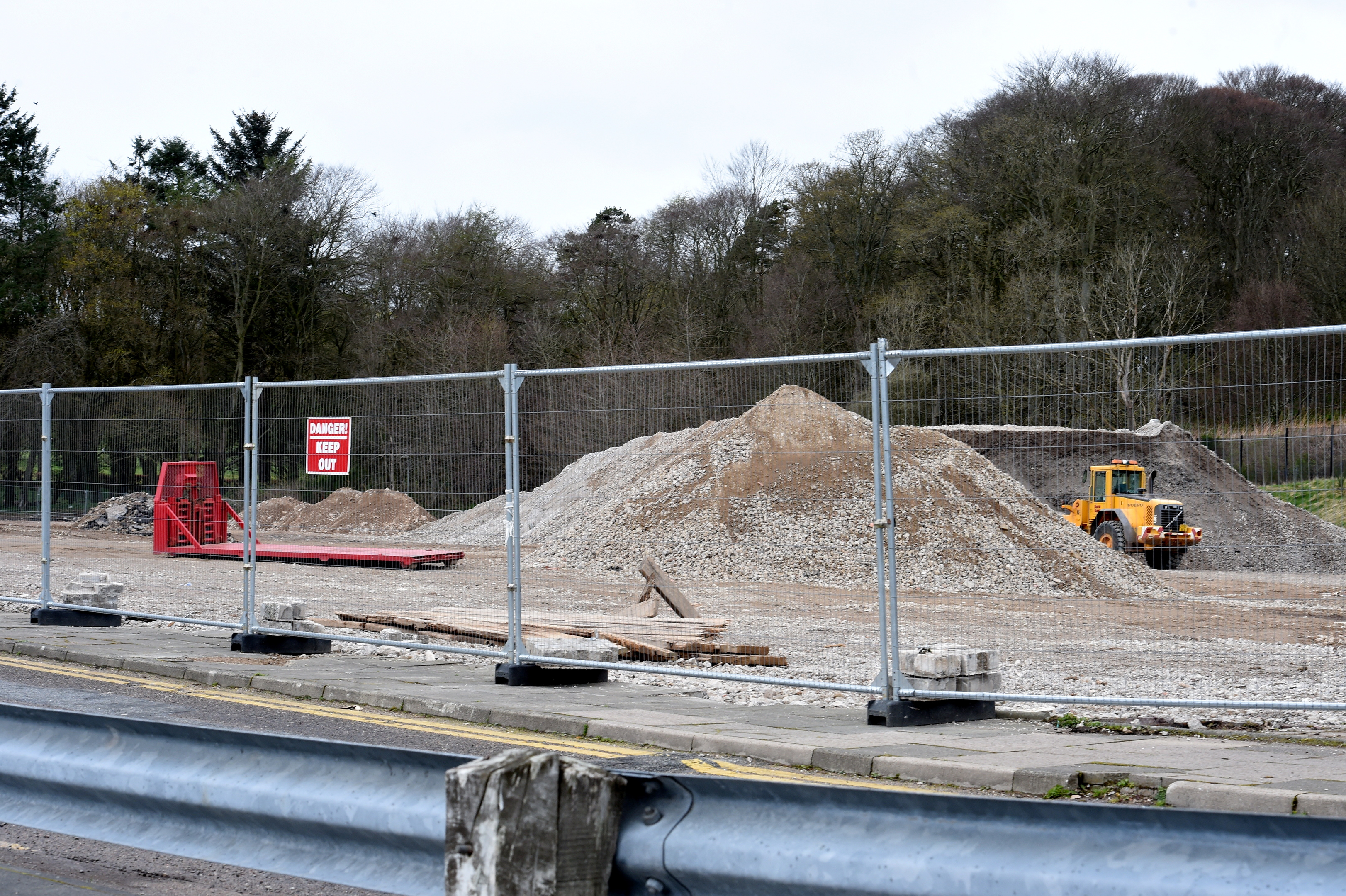 What now remains on the site of the old Ellon Academy.