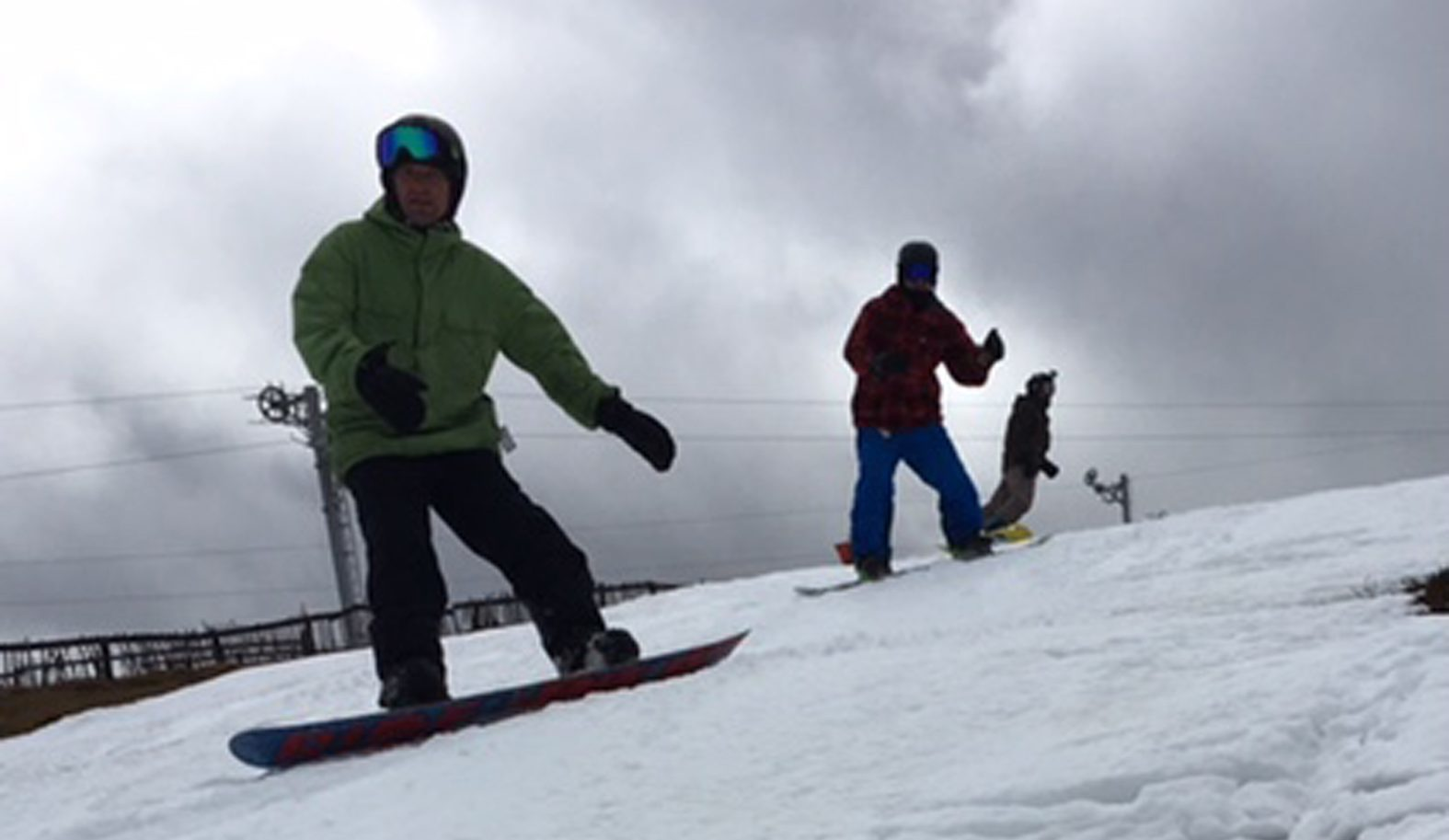 The Lecht ski centre  reopened because of the unseasonable  snow.