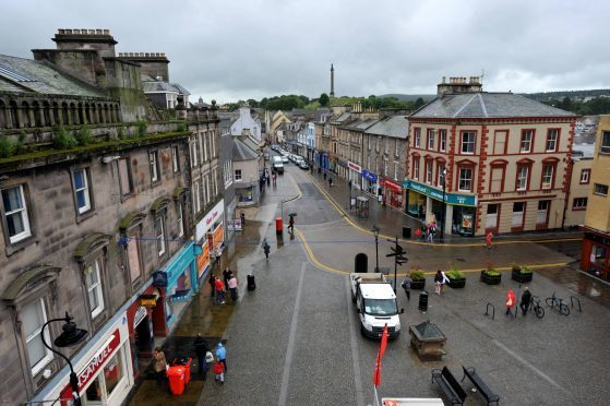 The incident allegedly happened on Elgin High Street.