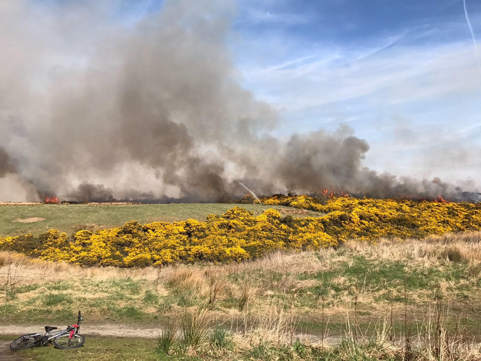 Fire: Flames close to Kingswells.