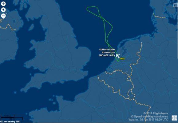 KLM flight update