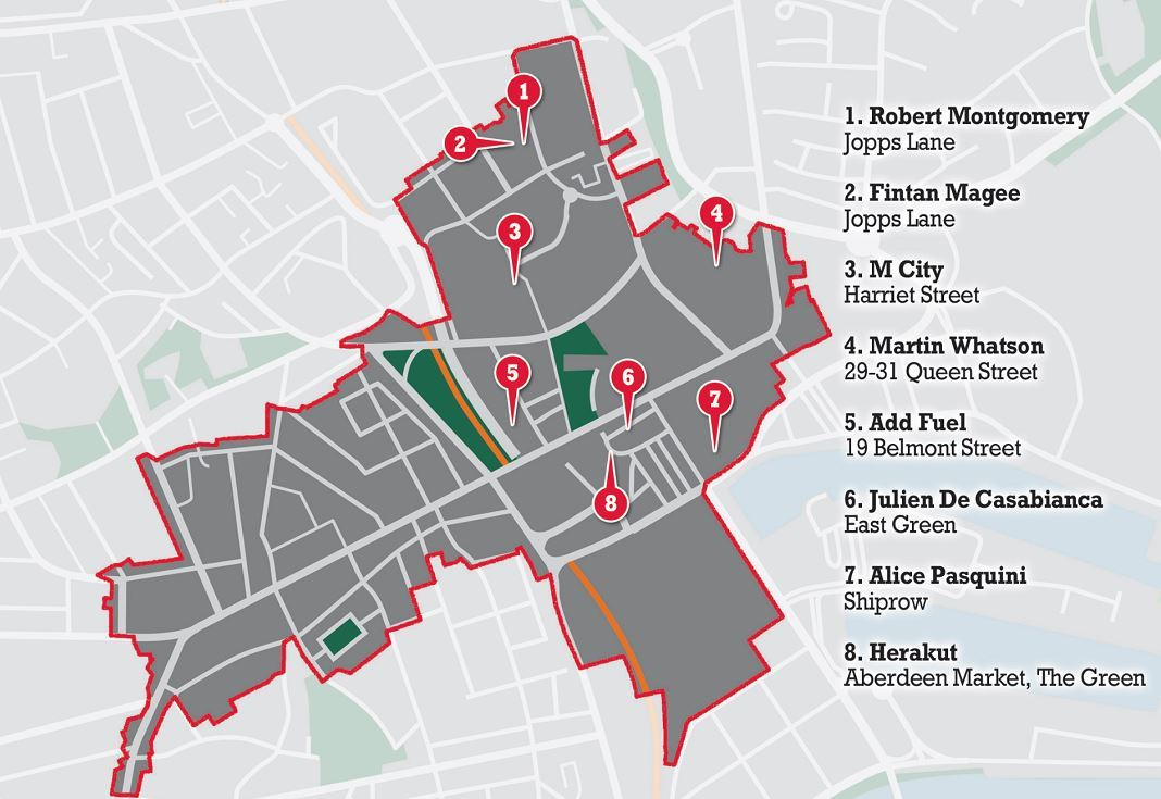 Locations for the Nuart  Festival have been revealed