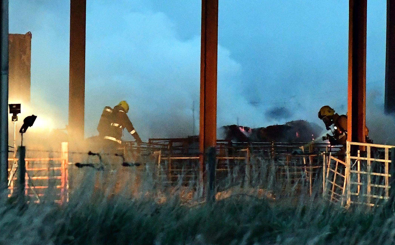 Scottish Fire and Rescue attend a farm fire at Blackpots near Auchnagatt.