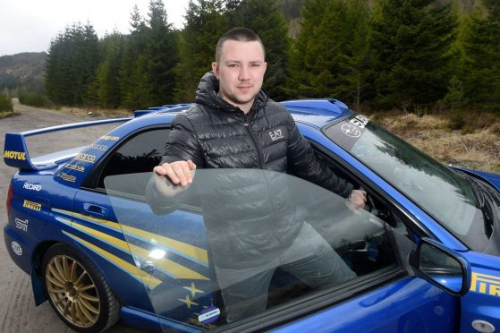Dylan Ritchie of Laggan, Badenoch with his Subaru Impreza which along with others will be leading the funeral procession for Kieran McQuillan.