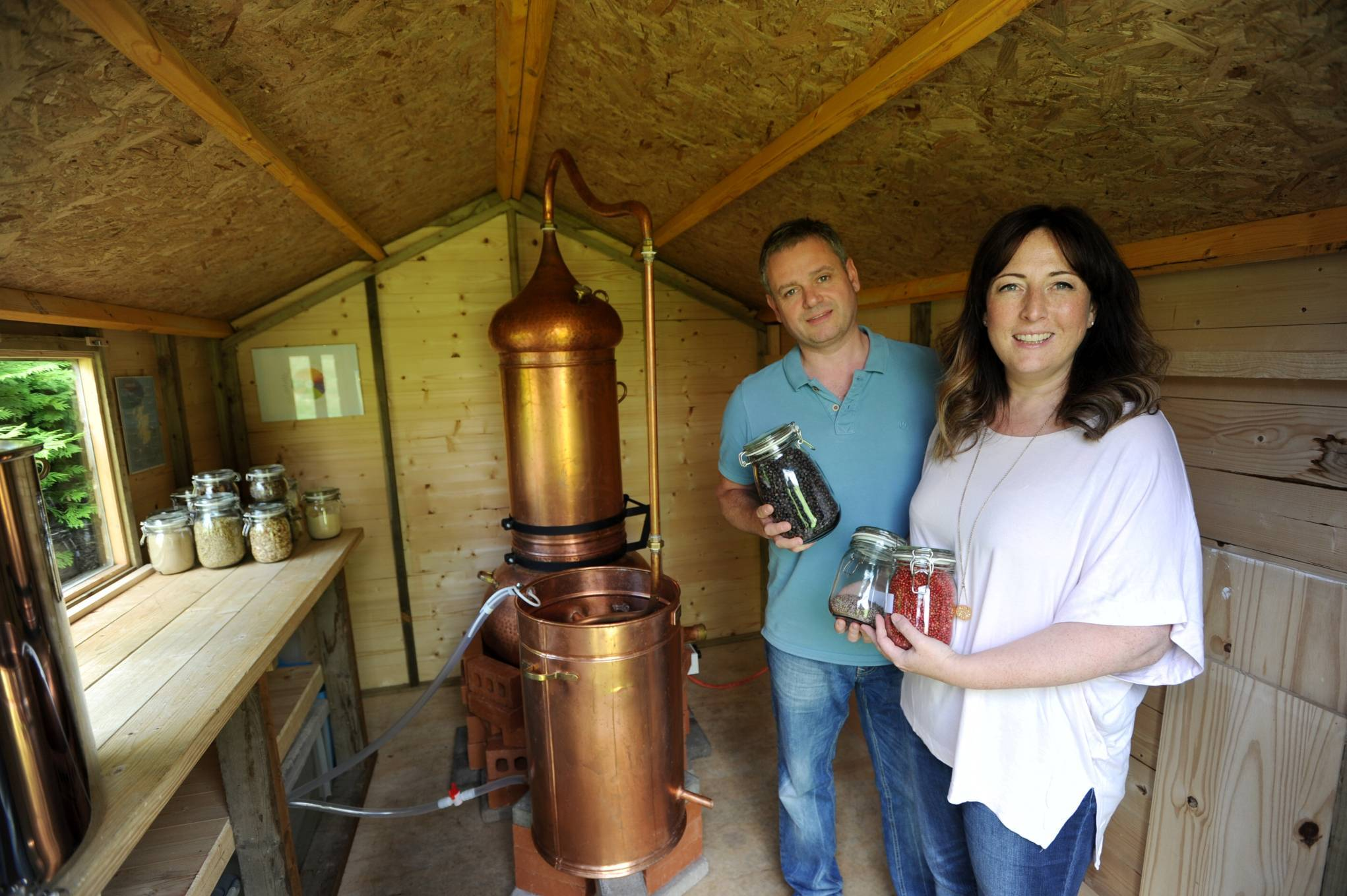 Steve and Lynne Duthie started their gin business in a shed