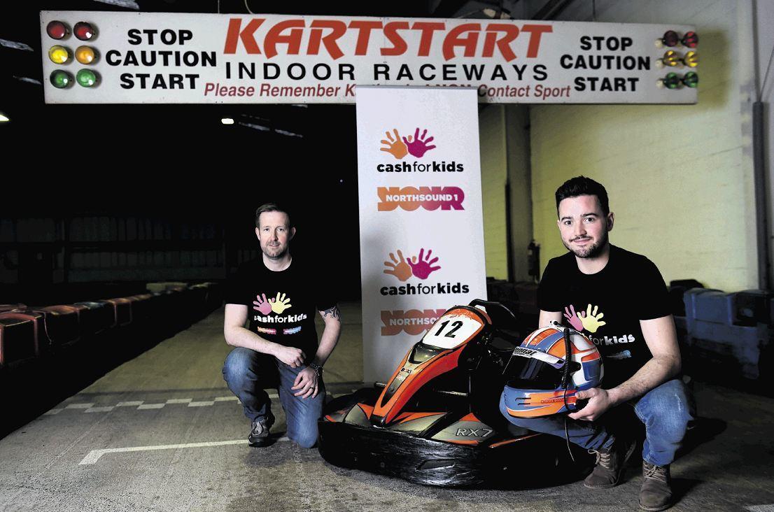 Mark Straker and Reis Robertson at Kartstart, Bridge of Don, Aberdeen.