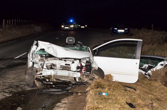 James Hilton's Renault Twingo after the head-on crash