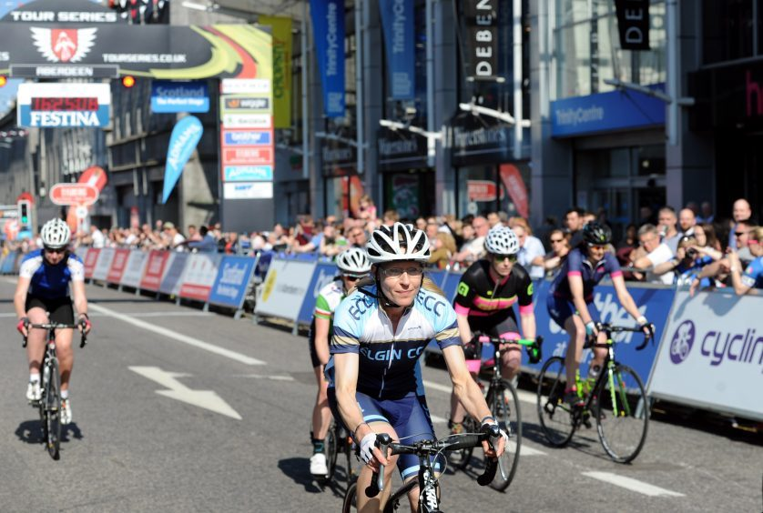 Tour Series Cycling Round 8 Aberdeen Pictured is the start of the Womens Senior Race. Picture by DARRELL BENNS     Pictured on 25/05/2017