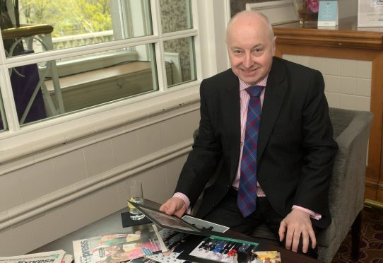 Stepping down: George Adam was Lord Provost for five years.