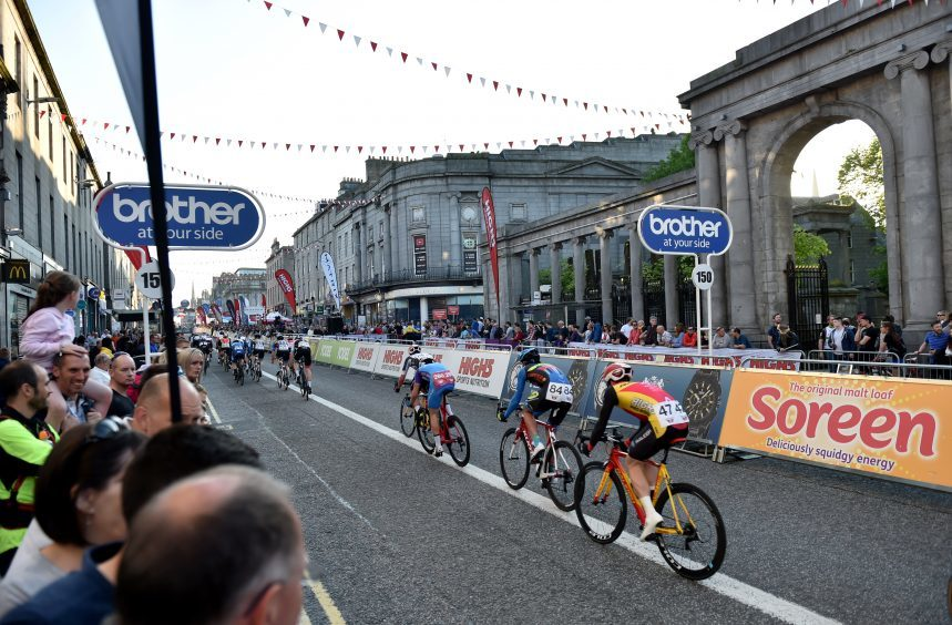 Tour Series Cycling Round 8 Aberdeen Elite Race Pictured are cyclists during the race. Picture by DARRELL BENNS     Pictured on 25/05/2017