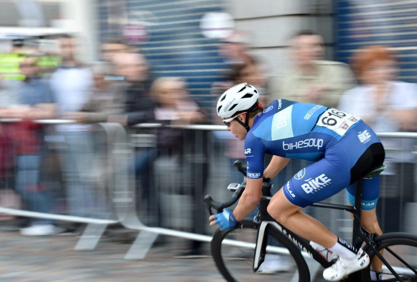 Tour Series Cycling Round 8 Aberdeen Elite Race Pictured is Harry Tanfield from the winning team of the night Bike Channel Canyon in action.  Picture by DARRELL BENNS     Pictured on 25/05/2017