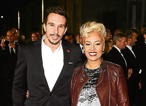 Emeli Sande with her ex-husband Adam Gouraguine.