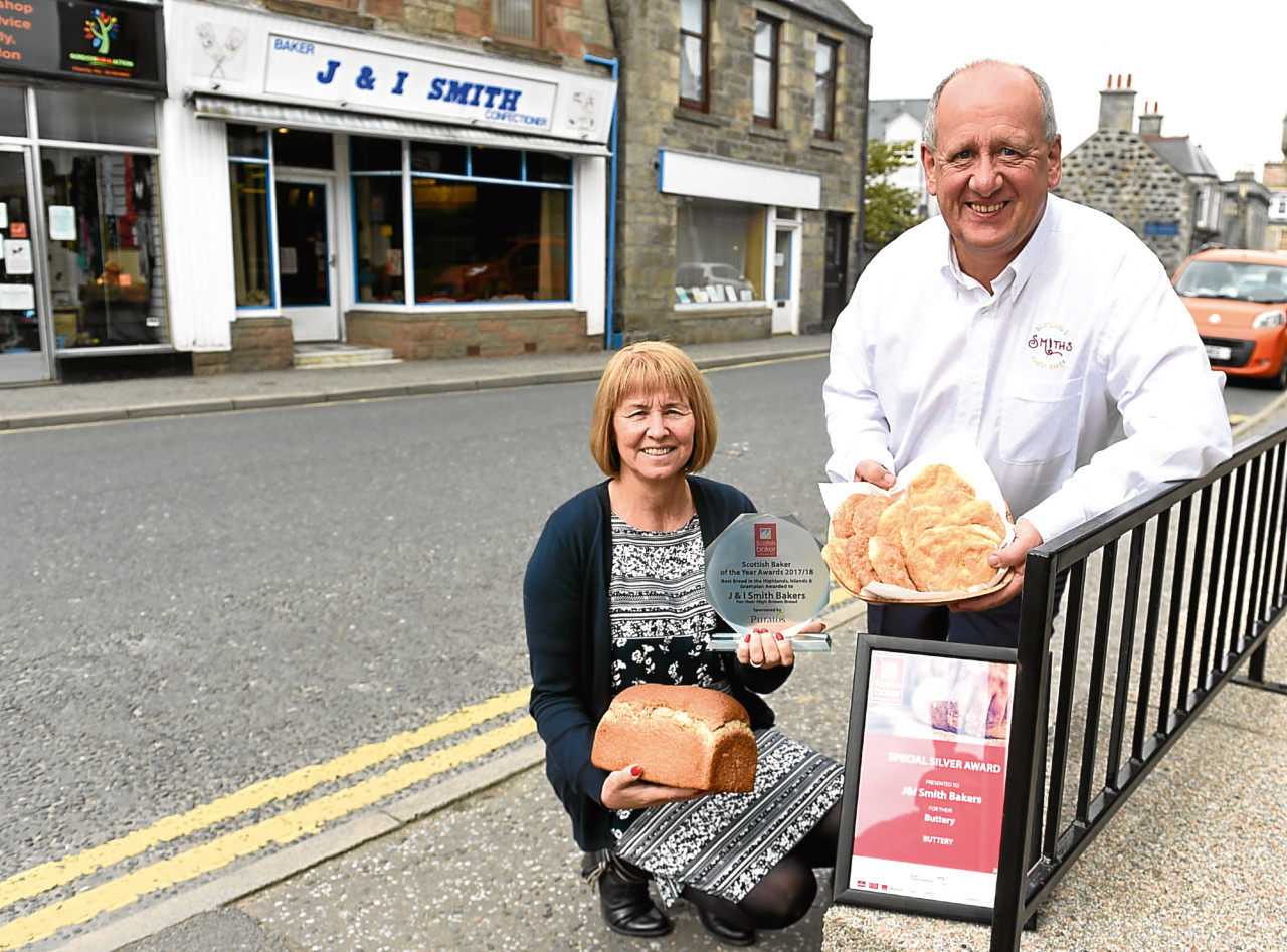 John and Janette Smith of J&I Smith Bakers in Huntly