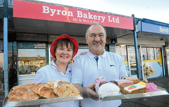 Fiona and Alistair Rait who own Byron Bakery in Northfield.