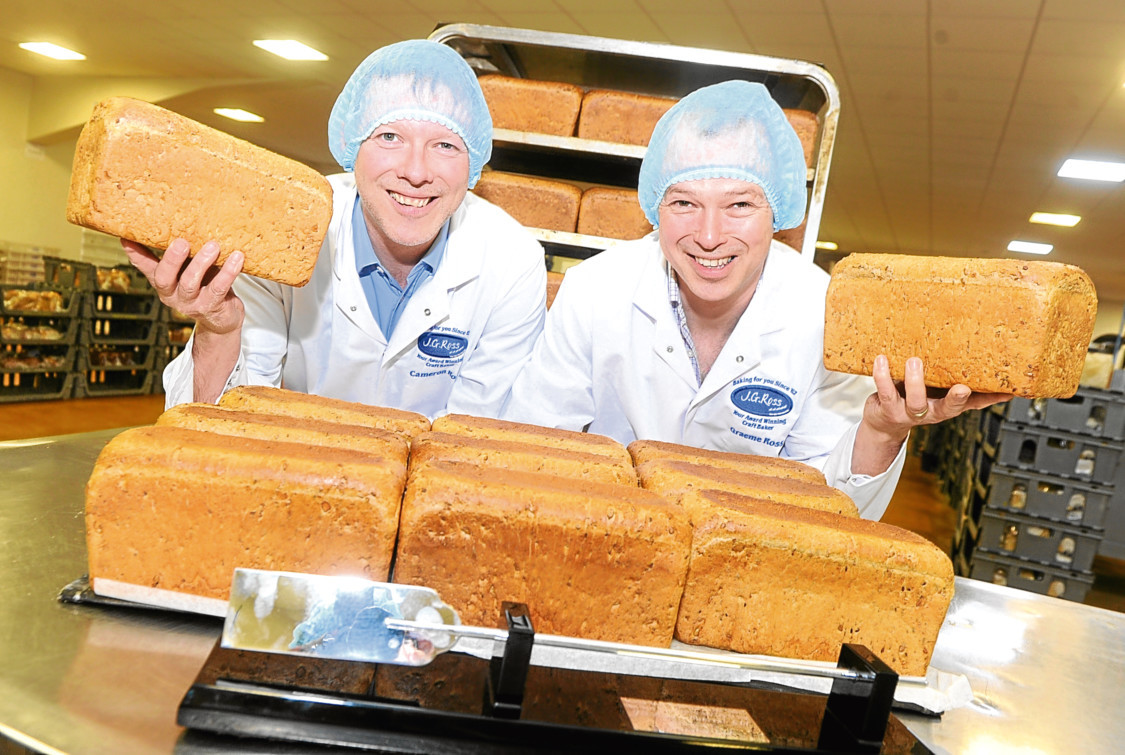 Cameron Ross and Graeme Ross of JG Ross, Inverurie,  also tasted success with their GI bread.