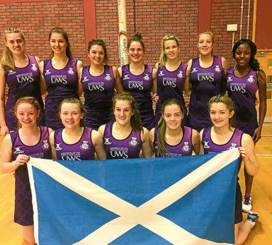 Scotland Under-21 netballers in 2017.