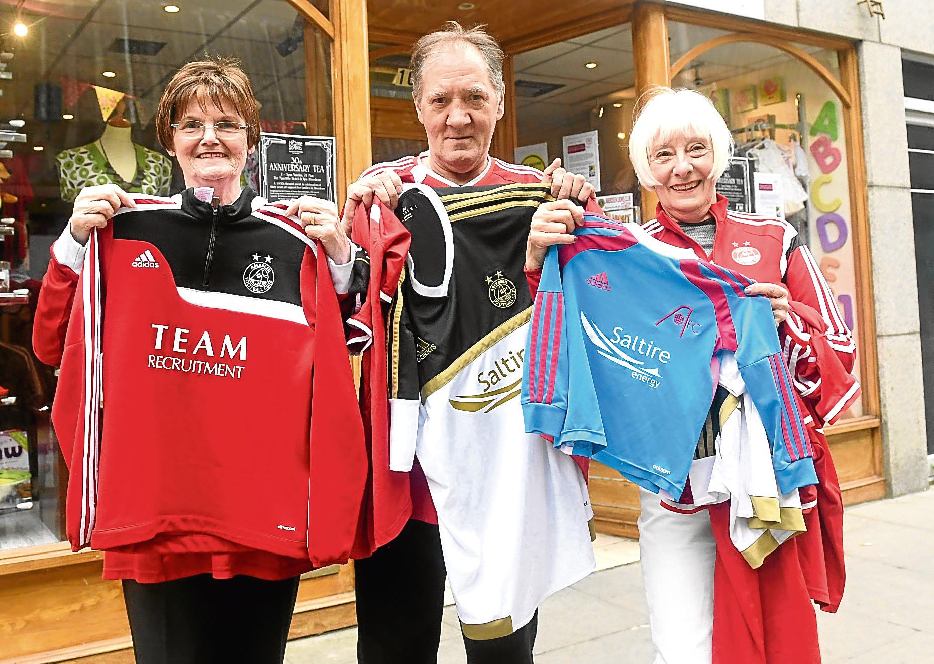 Charity volunteers Tricia Grieg, Gordon Mennis and Frances Davidson.