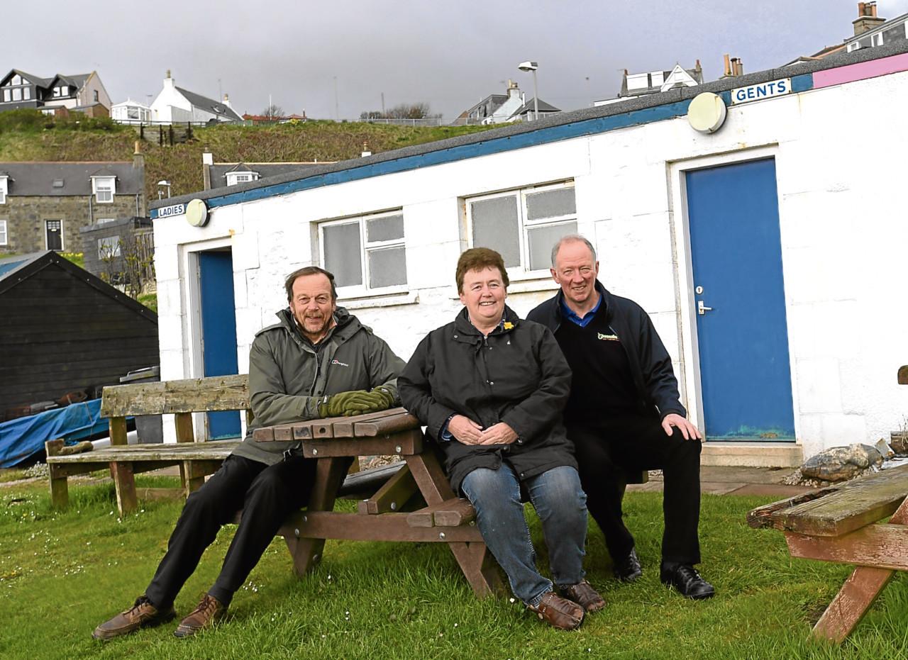 Resident Peter Robinson, Sally Sheehan and Jim McIntosh, of Greensleeves