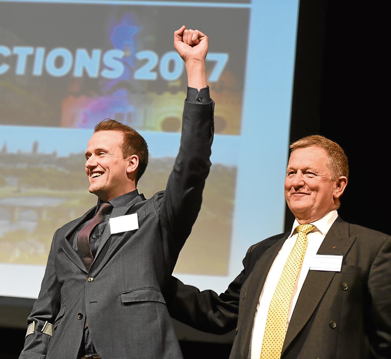 SNP councillors Stephen Flynn, left, and Alex Nicoll.