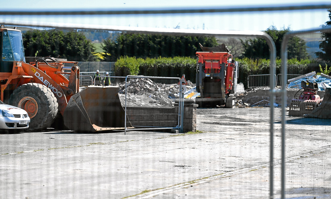 PLANS: Work to demolish Mearns Academy is progressing.