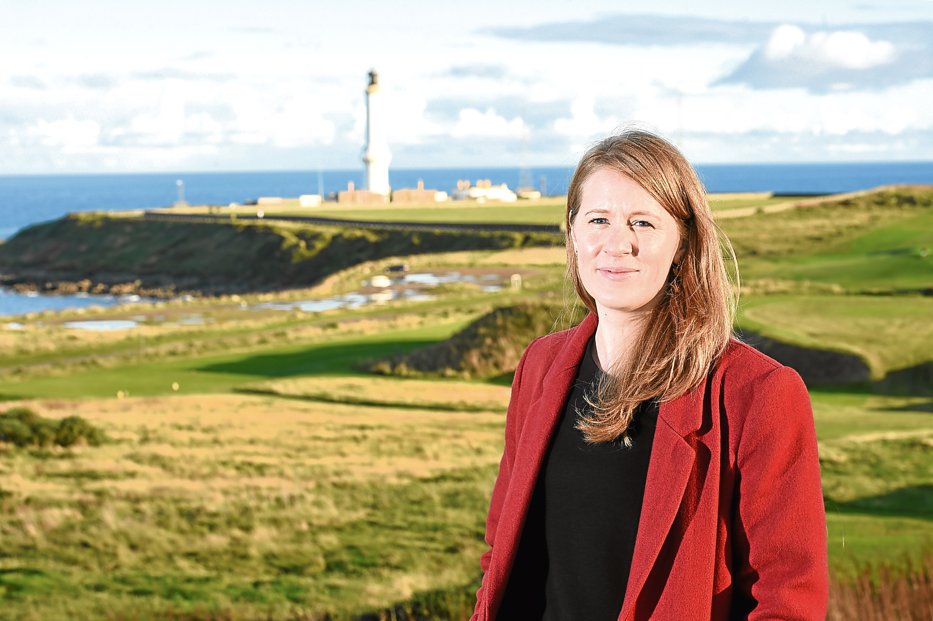 Fiona McIntyre, director of Greyhope Bay project, at the site in Nigg where they hope to develop a £10m visitors centre and marine education centre.
