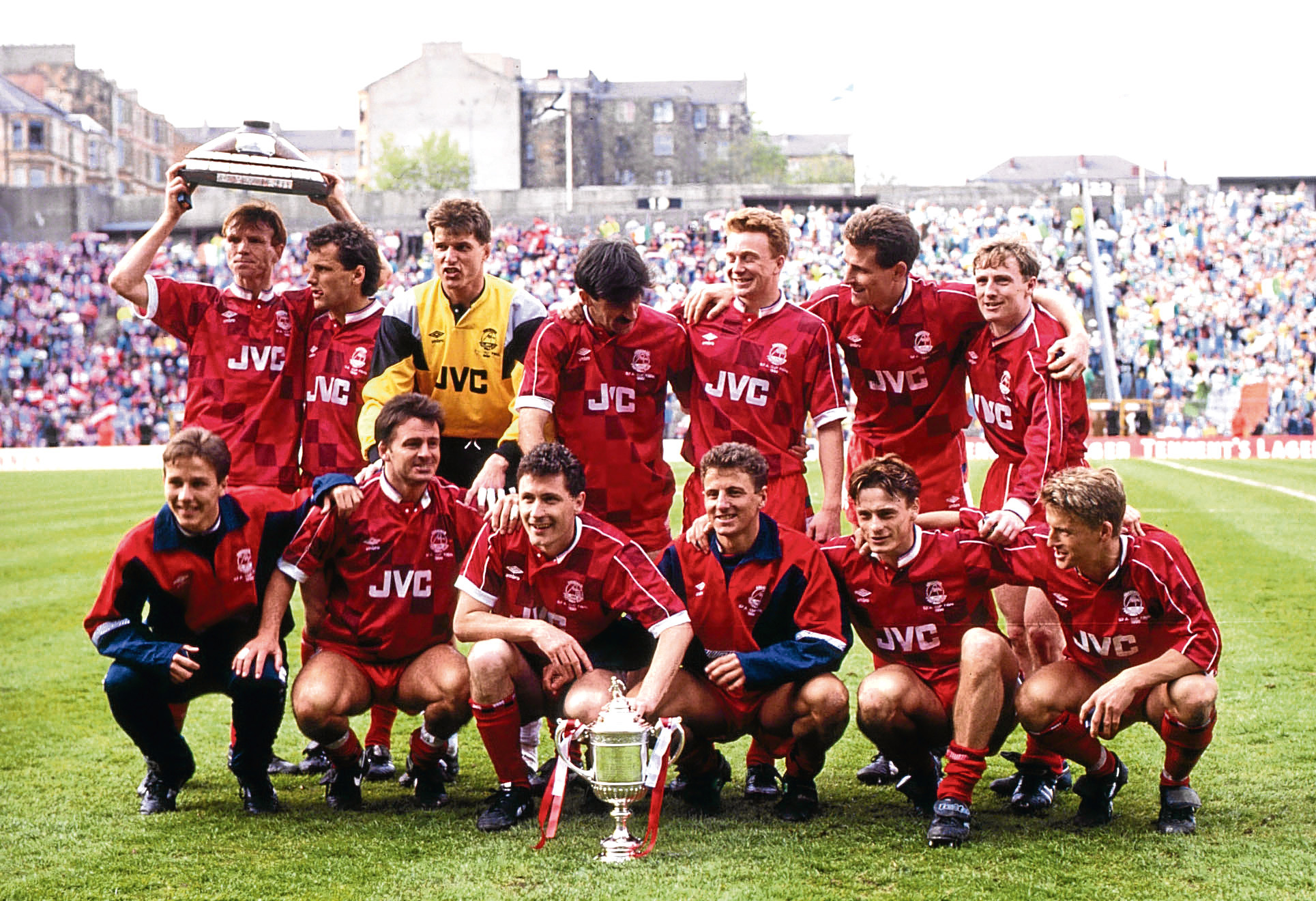 Paul Mason with the Scottish Cup in Aberdeen.