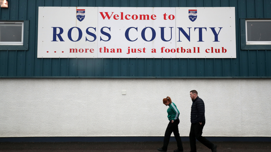 Ross County's Victoria Park will welcome 300 fans tonight