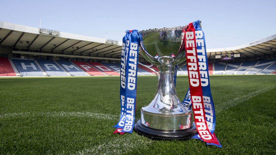 The Betfred League Cup trophy.
