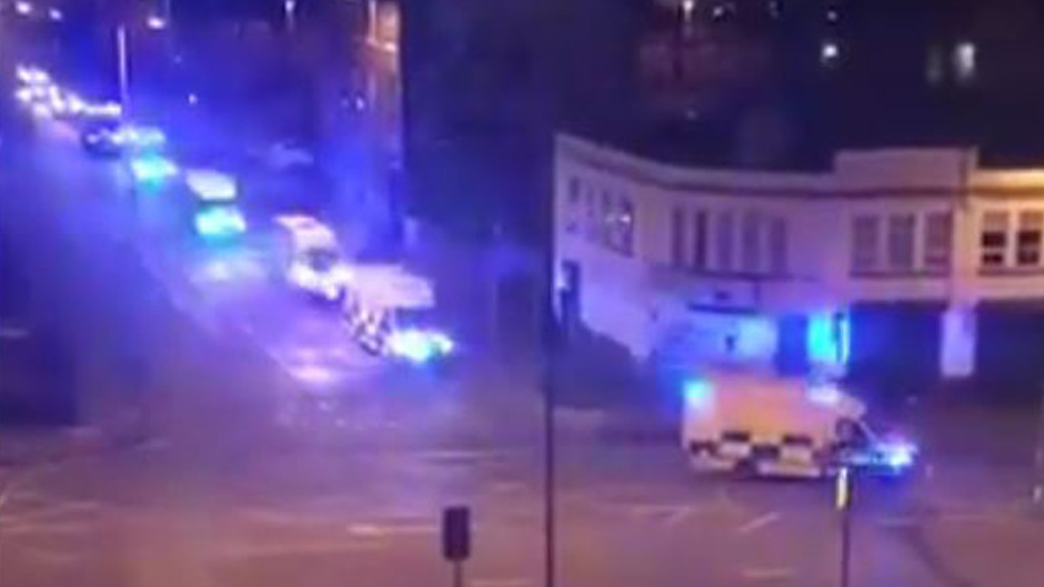 Emergency services heading to Manchester Arena after reports of an explosion.